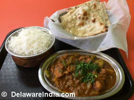 Bawarchi Wilmington Kadai Chicken Lunch