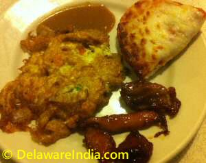 Chinatown Buffet Egg Foo Young, Pizza, Teriyaki Chicken