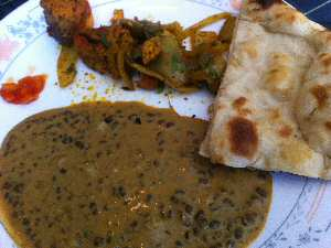 India Palace Dal Makhani, Naan Bread
