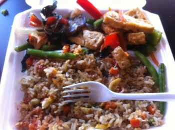Jeenwong Thai Cuisine Thai Eggplant Tofu Curry & Fried Rice with Egg
