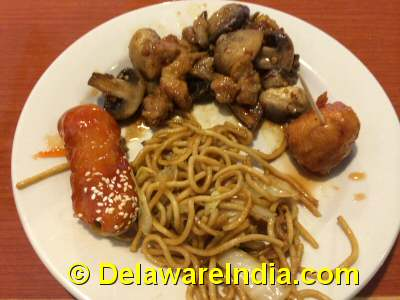 Old Town Buffet Entrees © DelawareIndia.com