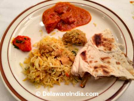 Nirvana Chicken Biryani, Butter Chicken © DelawareIndia.com