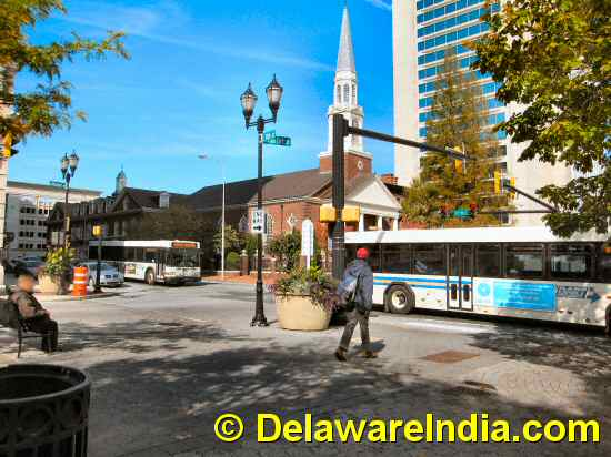 Rodney Sq in Downtown Wilmington