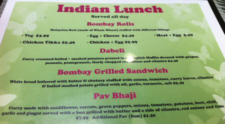Scrumptious Indian Lunch Menu © DelawareIndia.com