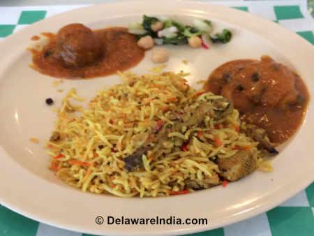Tandoori Restaurant Dum Chicken Biryani image © DelawareIndia.com