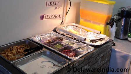 Tandoori Restaurant Newark Empty Idli Tray at Buffet Counter image © DelawareIndia.com