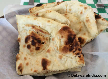 Tandoori Restaurant Newark Naan Bread image © DelawareIndia.com