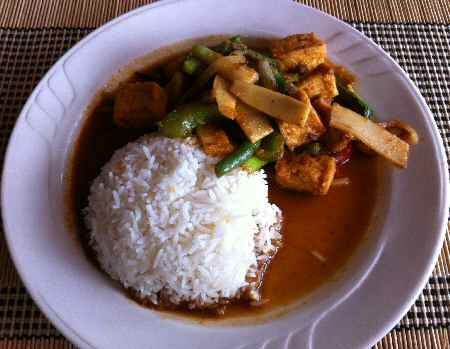 Spicy Tofu with Steamed Rice